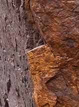 """""""Doubleface"""" (spigolo di roccia nei pressi del Tizi n'Ouanoums)."""